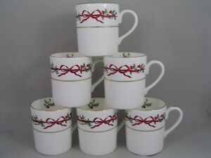 SET-OF-SIX-ROYAL-WORCESTER-HOLLY-RIBBONS-LARGE-COFFEE-MUGS