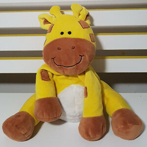 DYMPLES-THE-GIRAFFE-SOFT-TOY-PLUSH-TOY-BEANIE-TOY-26CM-TALL-SEATED
