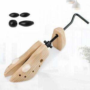 Unisex Women Men Wooden Shoe Stretcher 2-way Adjustable Shoe Shaper Expander HOT
