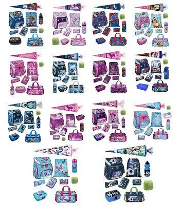 Jungen zum Schulanfang mit Schultüte Scooli Schulranzen 10tlg Set für Mädchen u