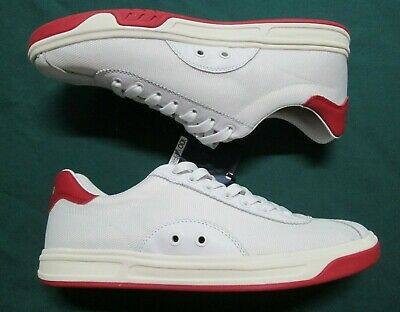 POLO RALPH LAUREN Mens COURT100 SK ATH White Leather&Mesh Low Top Sneakers | eBay