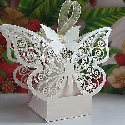 Luxury Laser Cut Wedding Engagement Party Cake Candy Favour Favors Gift Boxes XT