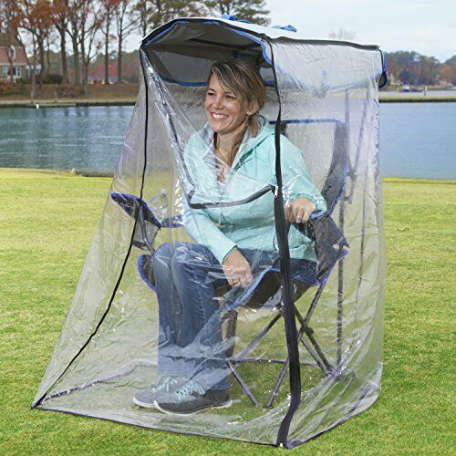 Canopy Chair with Weather Shield Outdoor Folding Chair with Umbrella Beach Chair