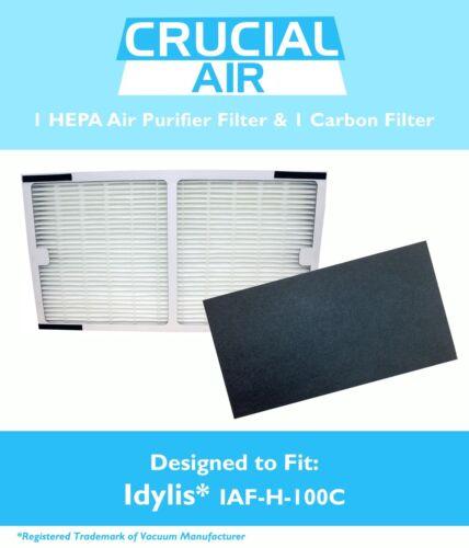 REPL Idylis HEPA Filter /& 1 Carbon Filter Part # IAP-10-200 IAF-H-100C
