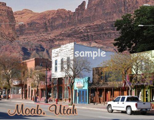 Utah Main St Travel Souvenir Fridge Magnet MOAB