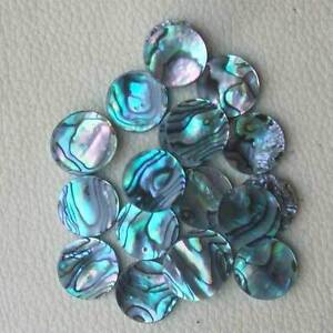 40 pcs trumpet finger button pearl set real abalone shell flashing
