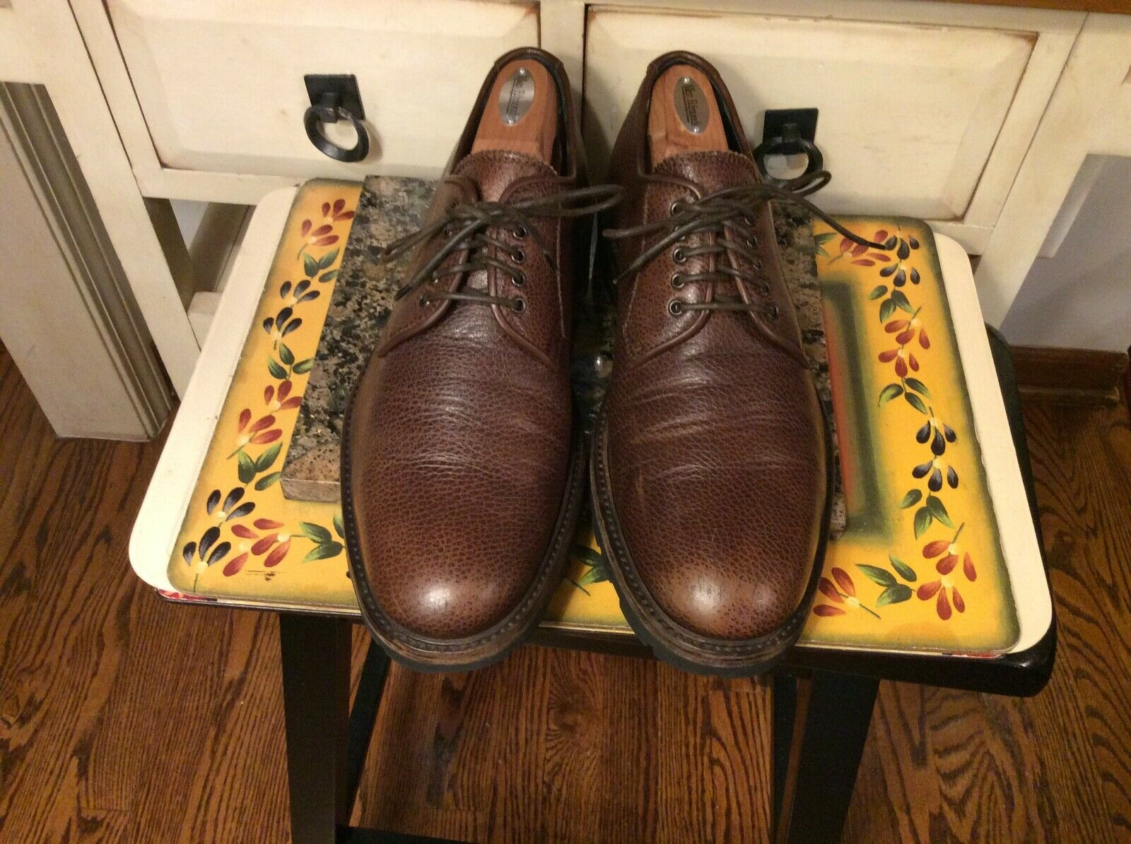 Aquatalia  Pebbled  Brown leather oxford  Men's shoes  Made in  Size 11M