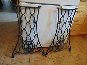 antique sewing machine base /stand/legs nice # 2007