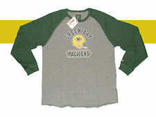 GREEN BAY PACKERS TRI BLEND VINTAGE CLASSIC RAGLAN PREMIUM LONG SLEEVE SHIRT