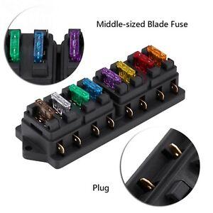 universal automotive fuse box car auto 12v 24v 8 way circuit standard blade fuse box block  car auto 12v 24v 8 way circuit standard