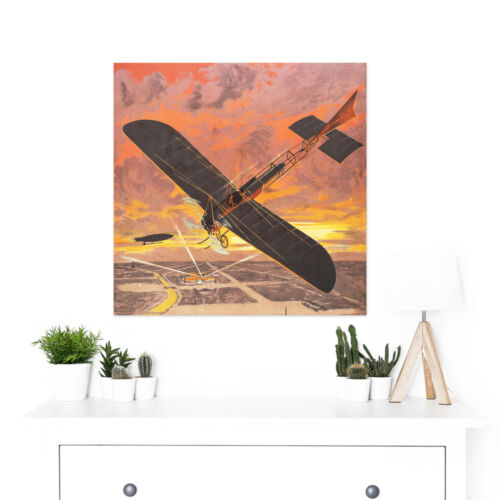Aviation Illustration Airplanes Palace Dorival Exposition Large Wall Art Print S