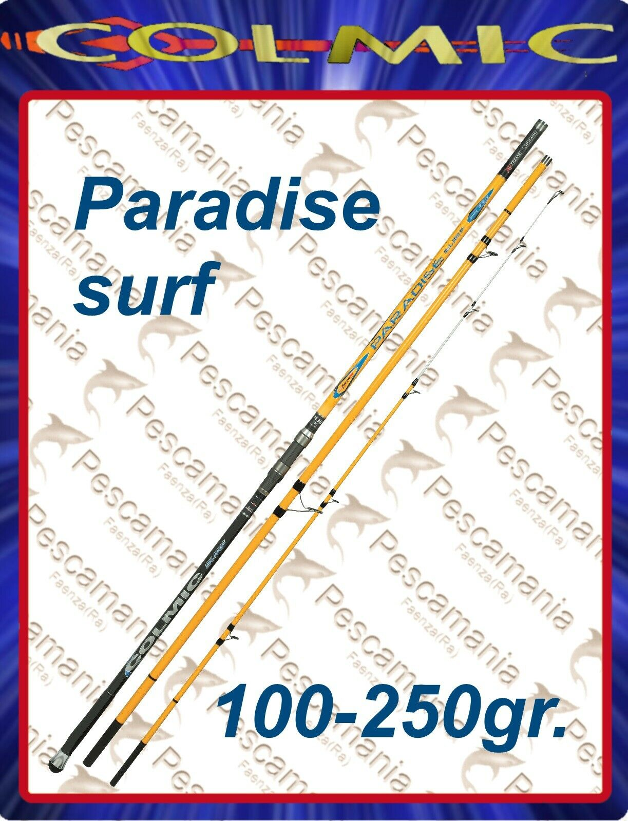 Canna colmic PARADISE SURF casting mt.4,30mt.4,60 10250 gr ripartita 3 sezioni
