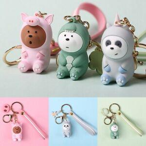 Cute-We-Bare-Bears-Pendant-Strap-Earphone-Keyring-Keychain-Key-Chain-Kzs