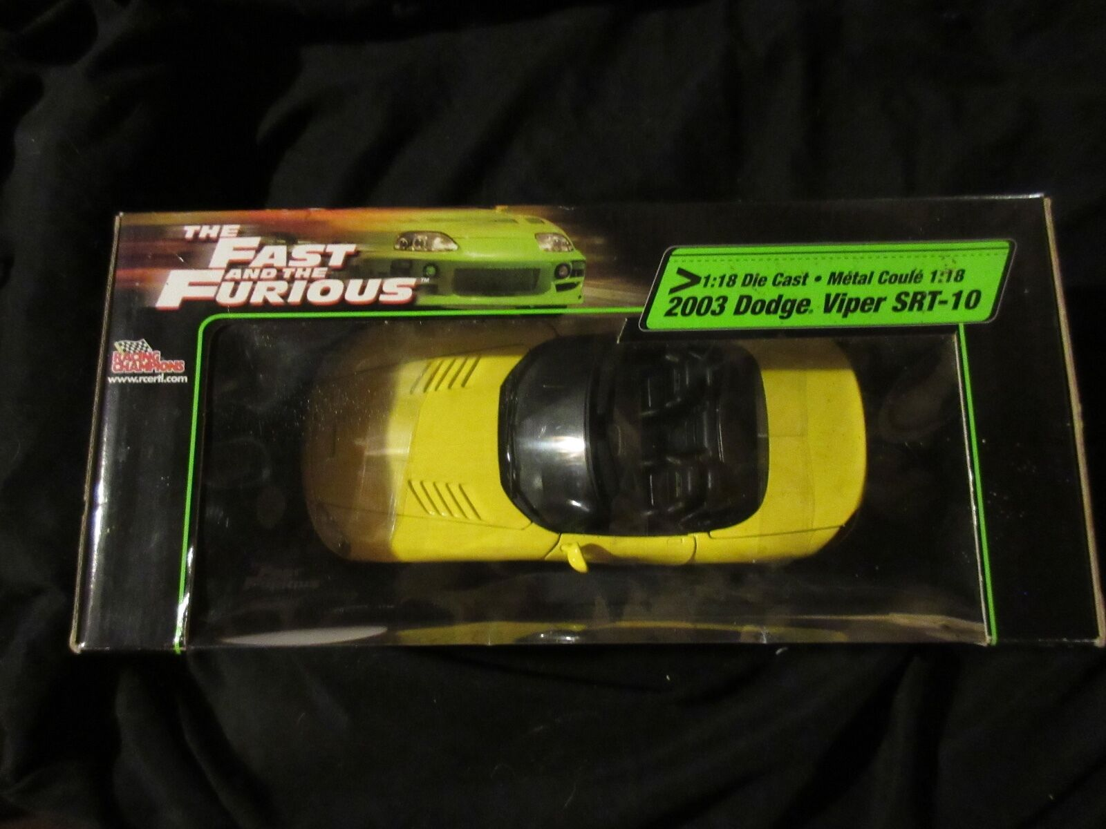 THE FAST ANS THE FURIOUS 1 18 DIE CAST 2003 DODGE VIPER SRT-10 RACING CHAMPIONS