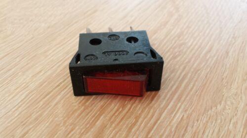 3 pezzi nero Interruttore illuminato 1xein 250vac 16a32x15x40mm
