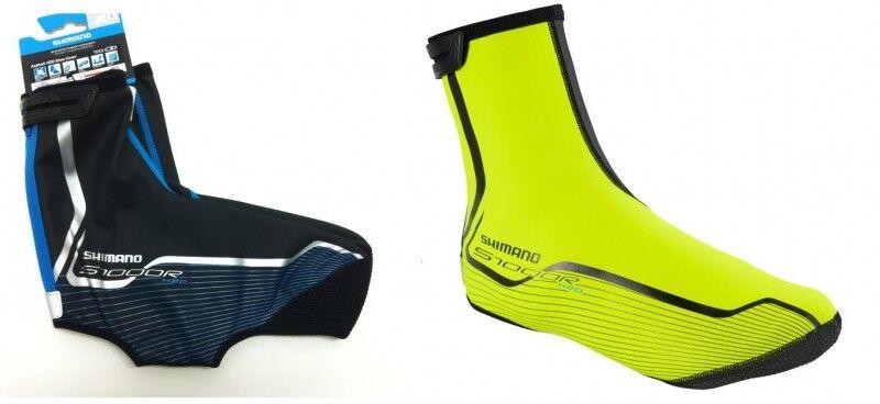 SHIMANO Asphalt H2O S1000R Fahrrad-Regenüberschuhe o. Rennrad, schwarz o. Fahrrad-Regenüberschuhe neon-gelb 972411