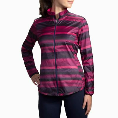 Clothing, Shoes & Accessories Women's Clothing Humorous Brooks Running Navy Berry Stripe Lite Shelter Device Jacket For Women 2019 New Fashion Style Online