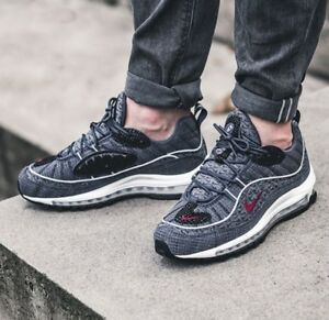 Details about Nike Air Max 98 QS Size 9 UK Thunder Blue Genuine Authentic Mens Trainers