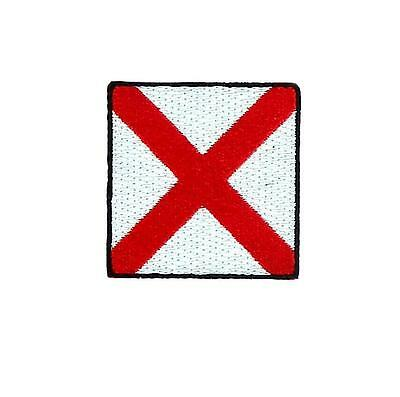 Flag patch embroidered international maritime nautical navy signal V Victor