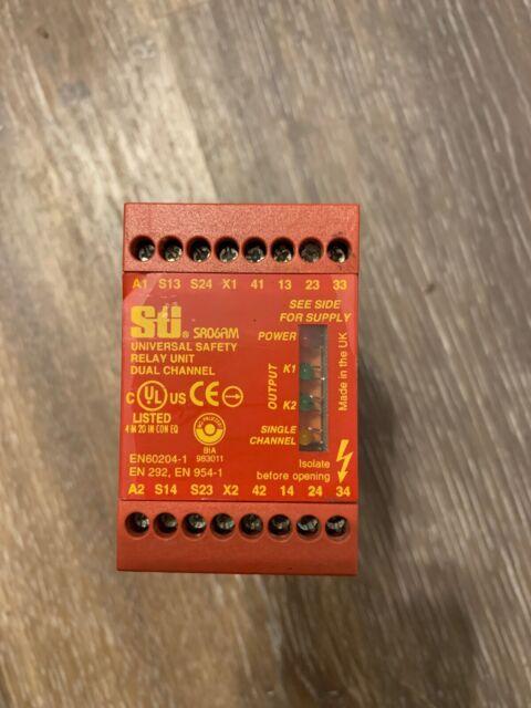 STI 44510-0320 SR06AM Universal Safety Relay Unit Dual Channel 110V AC