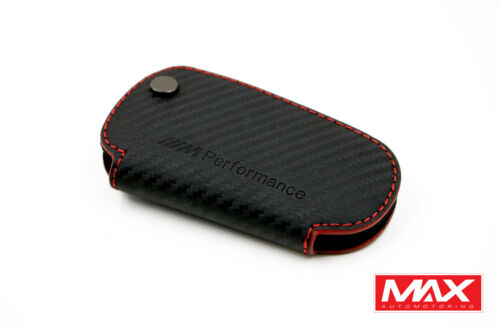 Grade-High Leather Auto Car Remote Control Key Chain Holder Case Fits BMW