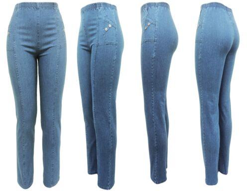 Stretchjeans mit Gummizug und Seitentaschen Jeans Jeggings Jeans-Hose 38-54