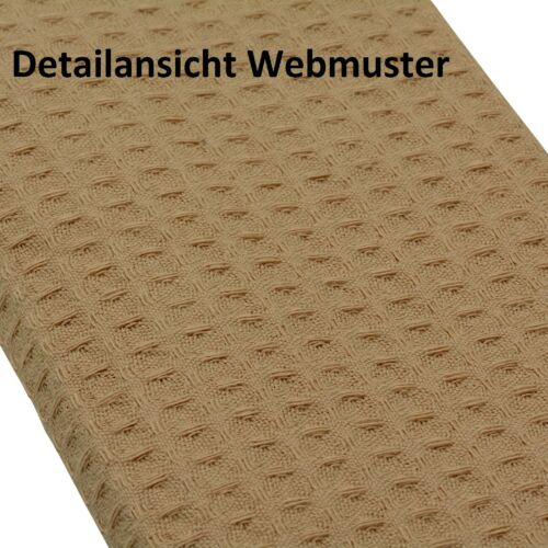6x Waffelpique-Geschirrtuch 3x Hellbraun 3x Dunkelbraun 100/%-Baumwolle Putztuch