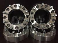 4x Wheel Spacers 8x6.5 Bolt 9/16 Studs 2 Inch 8 Lug Ford F250 F350 Dodge Ram