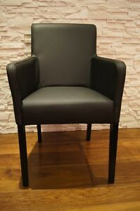 Schwarz Echt Leder Esszimmerstuhle Mit Armlehnen Stuhl Sessel Stuhle
