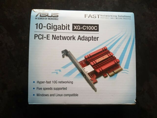 ASUS XG-C100C Network Add-in-Card, PCIe x4, 1x 10GbE RJ45 Port, Built-in QoS