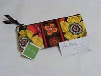 Vera Bradley Buttercup Brush & Pencil Cosmetic Case Bag For Purse Tote Bag