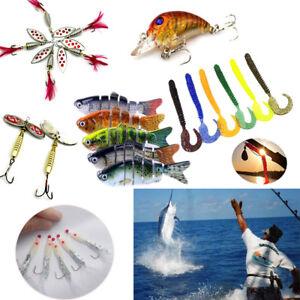 30 Kinds of Fishing Lures Crankbaits Hooks Minnow Baits Tackle Crank Set 2019 US