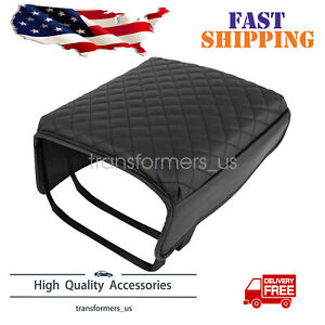 Center Console Cover Armrest Cover Pad Replacement Black for Ford F150 2015-2019