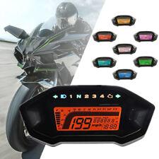 12V Universal Motorcycle Digital Gauge Speedo Tacho Odometer Gear Fuel Indicator