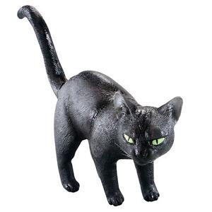 Halloween-Schwarz-Katze-22-9cm-Gummi-Film-TV-Stutze-Kostum-Dekoration-Zubehor