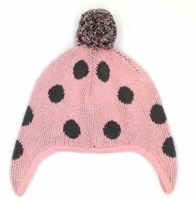 Tate Girl/'S Gray Pink Pom Cotton Beanie Hat Cap Baby Size 0-12m $77 Tucker