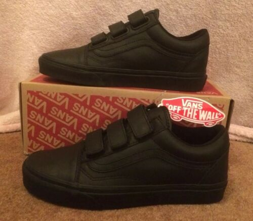 Women's V Trainers nero And 6uk Skool Hook Vans Mono Leather Size Old Loop Uomo qExSnpHw