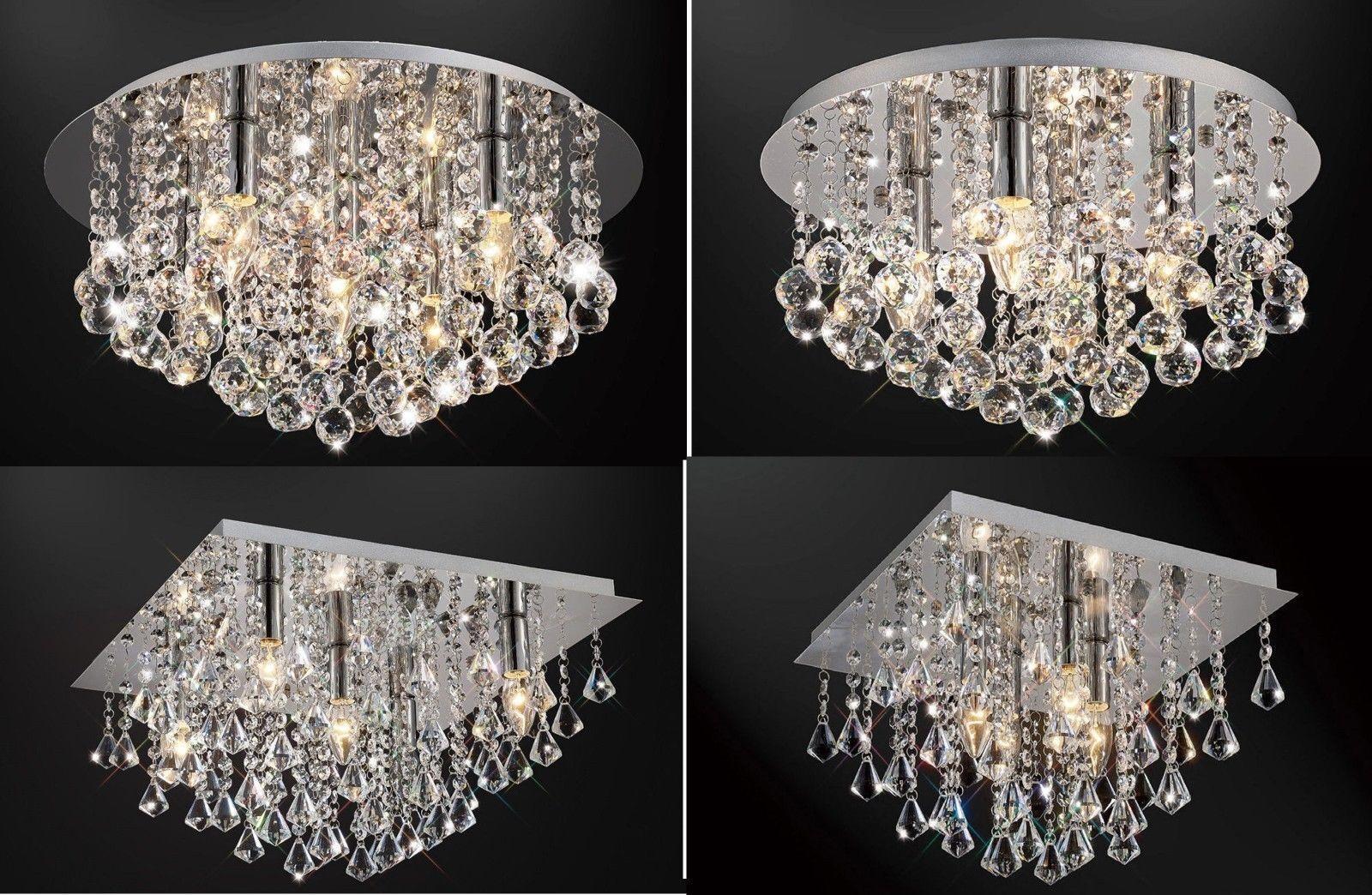 Plafoniere Con Gocce Di Cristallo : Nuovo originale vetro cristallo goccia
