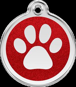 medaille-gravee-chien-chat-red-dingo-empreinte-a-paillettes-7-couleurs-3-tailles