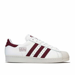 Hommes-Adidas-Originals-Superstar-80-S-Trainers-in-Ftwr-Blanc-Marron-Cristal