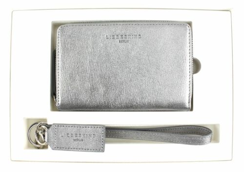 LIEBESKIND BERLIN Embossed Metallic Goat Bundle2 Geldbörse Iron Silver Silber