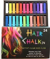 24 Colores Cabello Tiza Temporal Cabello Tinte Color Kit Pasteles Colores Salón Kit