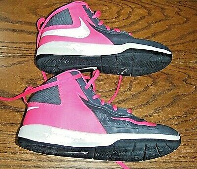 Nike Team Hustle D7 Youth Basketball Shoes Size 3 Y Gray Pink 747999-006 Kids' Clothing, Shoes & Accs