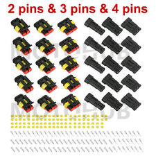 15 Kits 234 Pins Way Car Super Seal Waterproof Electrical Wire Connector Plug