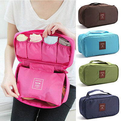 Portable Underwear Organizer Travel Cosmetic Bag Luggage Storage Case Bra Pouch