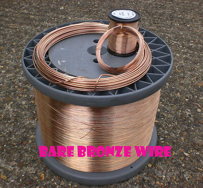 SOLID BRONZE WIRE 0.2mm - 2.00mm 50GRAMS UNCOATED