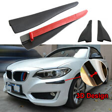 Universal 2PC Front //Back Bumper Guard Cover Stickers Protector Black Streamline