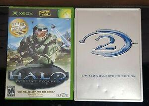 Xbox-Halo-1-Combat-Evolved-amp-Halo-2-Limited-CIB-komplett-und-geprueft-Zustand
