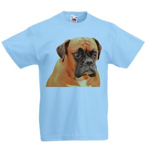Boxer Dog Kid/'s T-Shirt Children Boys Girls Unisex Top