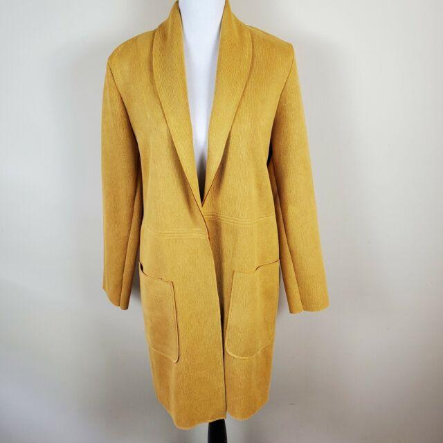 Zara Women's  Long Coat Jacket Lightweight Open Front Size S Small